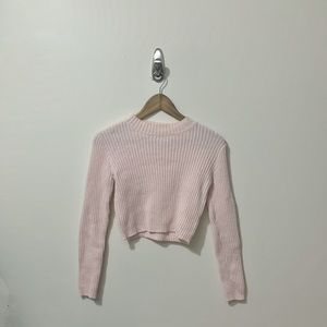 Brandy Melville Cropped Pink Sweater